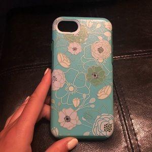 Accessories - iPhone 8/7/6s/6 blue/green flower case